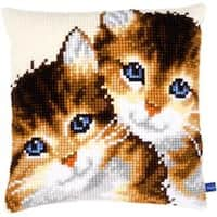 """16""""X16"""" - Kittens Cushion Cross Stitch Kit"""