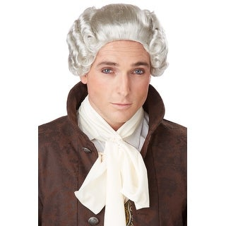 California Costumes 18th Century Peruke Costume Wig (Grey) - grey