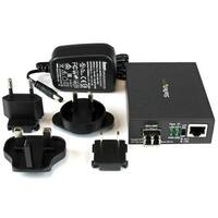Startech Mcm1110mmlc Gigabit Ethernet Fiber Media Converter - Compact, Black