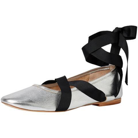 Loeffler Randall Women's Pearl (Metallic Leathergrosgrain) Ballet Flat