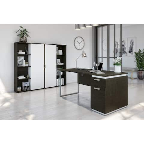 Bestar Aquarius 3-Piece Computer Desk and Two Bookcases