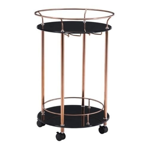 Zuo Modern 100366 Plato Serving Cart - Rose Gold