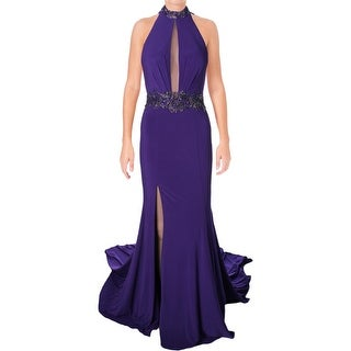 Terani Couture Beaded Illusion Formal Dress