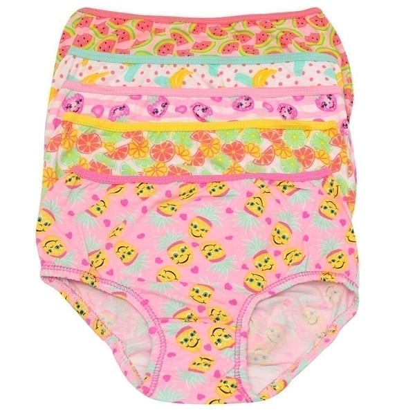 Shop 1000% Cute Little Girls Yellow Pink Fruit Print Cotton 5 Pc Underwear  Set - Free Shipping On Orders Over  45 - Overstock - 19293704 2b8aeba1b