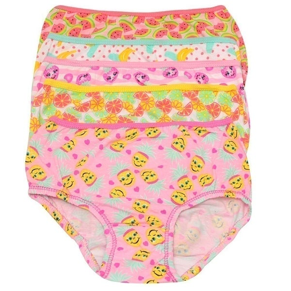 39b1f12db126 Shop 1000% Cute Little Girls Yellow Pink Fruit Print Cotton 5 Pc Underwear  Set - Free Shipping On Orders Over $45 - Overstock - 19293704