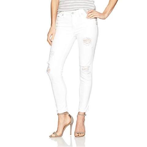 "Calvin Klein Women's Mid Rise Skinny Jeans White Size 26"""