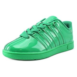 K-Swiss Classic VN Youth Round Toe Patent Leather Green Sneakers
