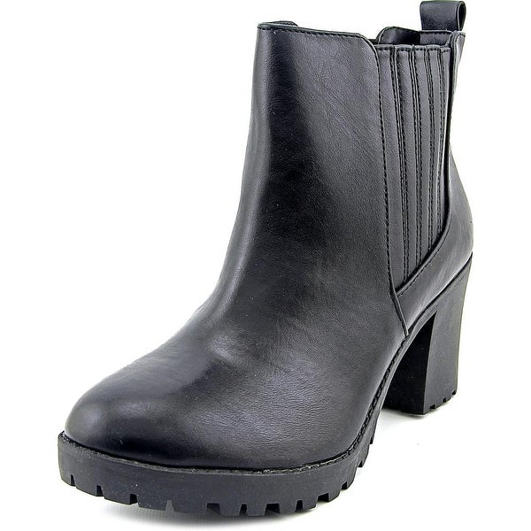 Material Girl Nina Women Round Toe Synthetic Black Ankle Boot