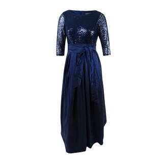 Jessica Howard Women's Sequined Taffeta Ball Gown (12, Navy) - Navy - 12