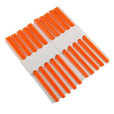 Plastic Chopsticks Orange 10 Pairs