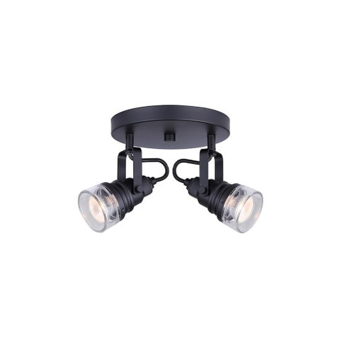 """Canarm ICW667A0210 Brock 2 Light 8"""" Wide Accent Light or Wall Sconce"""