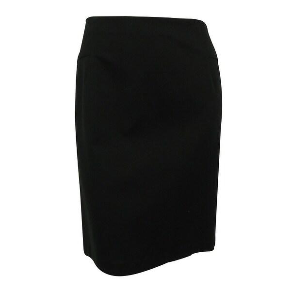 INC International Concepts Women's Pencil Skirt - Deep Black