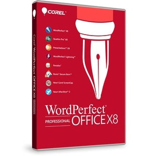 """Corel WordPerfect Office vX8 Professional Edition - 1 User WordPerfect Office X8 Professional Edition"""