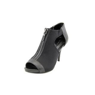 Tahari Champion Women Peep-Toe Canvas Black Heels