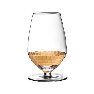 Fitz and Floyd Daphne Wine Glasses, Gold