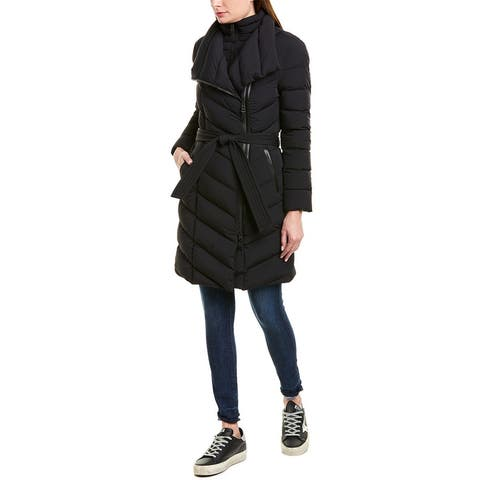 Mackage Ilena Leather-Trim Down Coat