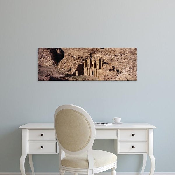 Easy Art Prints Panoramic Images's 'High angle view of a monastery, Petra, Jordan' Premium Canvas Art