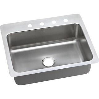 "Elkay PSSR2722 Gourmet 27"" Single Basin Drop In Stainless Steel Utility Sink"
