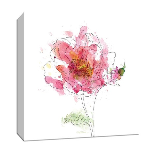 """PTM Images 9-147217 PTM Canvas Collection 12"""" x 12"""" - """"Simple Study I"""" Giclee Flowers Art Print on Canvas"""
