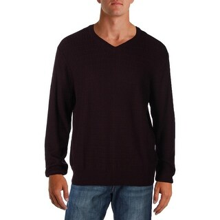 Perry Ellis Mens Pullover Sweater Knit Loop Pattern