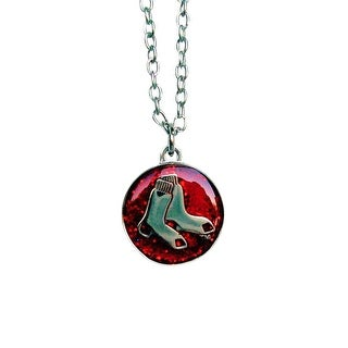 Cleanlapsports Boston Red Sox Glitter Necklace