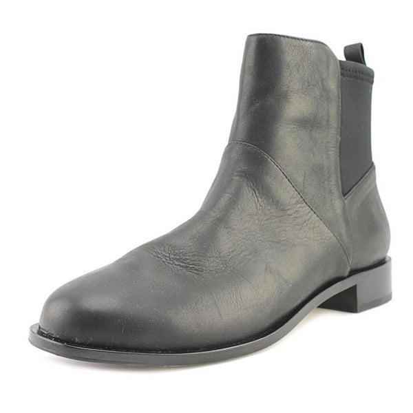 Matt Bernson Harper Women Round Toe Leather Black Ankle Boot