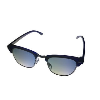 Kenneth Cole Reaction Sunglass Blue / Silver Square, Blue Gradient Lens KC1204 90W - Medium