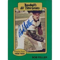 Signed Feller Bob Cleveland Indians Baseball Card autographed