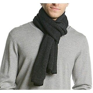 Calvin Klein NEW Charcoal Gray One Size Scarf Woven Mens Accessory