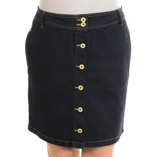 TOMMY HILFIGER $70 Womens New 1038 Navy Above The Knee A-Line Skirt 12 B+B