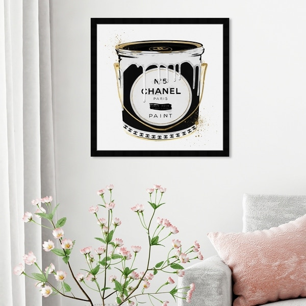Oliver Gal 'Fashion Paint Noir' Fashion and Glam Framed Wall Art Prints Cans - Black, Gold. Opens flyout.