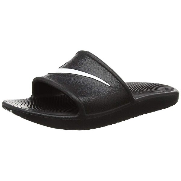 online store c2415 140da Nike Men  x27 s Kawa Shower Slide Sandals Black White Size ...