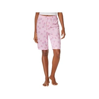 Hue Womens Pajama Shorts Drink Print Sleepwear - M
