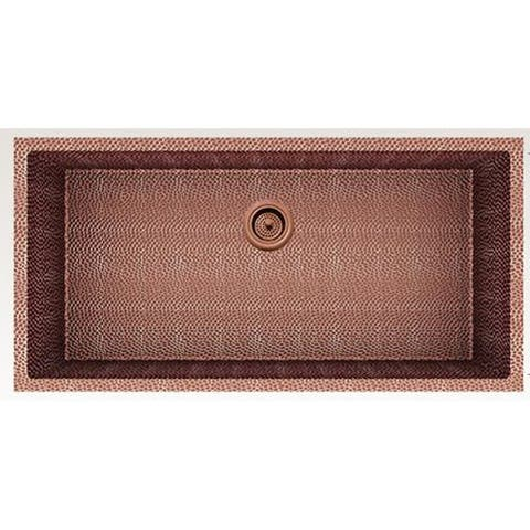 American Imaginations 36-in. W CSA Approved Rose Copper Kitchen Sink With Copper Finish And 16 Gauge - 18