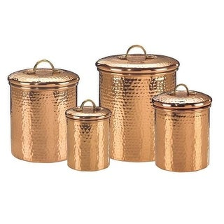 1.5 qt. Hammered Canister Copper