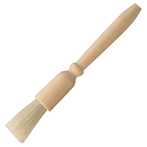 HIC Coffee Bean Grinder Cleaning Brush - Natural Bristles with Wooden Handle