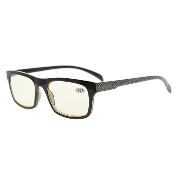 Eyekepper Anti Blue Rays Scratch Resistant Lens Computer Glasses,Grey Arm(Yellow Lens,+2.75)