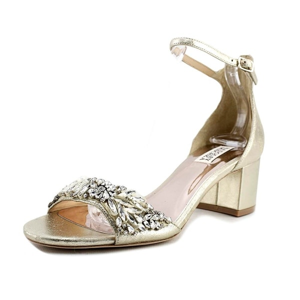 Badgley Mischka Tamara Women Open Toe Leather Gold Sandals