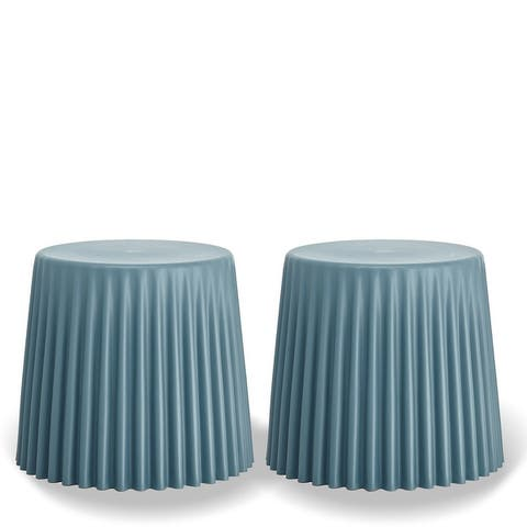 2xhome Set of 2 Stackable Stacking Cupcake Stool Dining Ottomans End Side Table Accent Chair Living Bedroom Kitchen Office