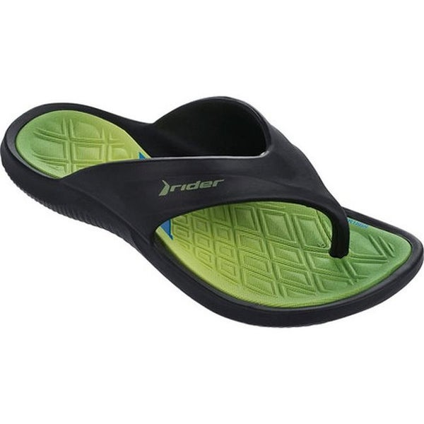 cfca66d379d Shop Rider Children s Cape VIII Thong Sandal Black Green - On Sale - Free  Shipping On Orders Over  45 - Overstock - 14750582