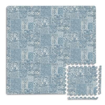 Bazaar Interlocking Floor Foam Tiles - 34.2in x 34.2in x 0.4in