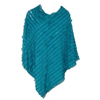 CTM® Women's Convertible Ruffled Poncho Shawl - One Size