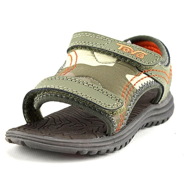 def0585e65833b Shop Teva T Psyclone 5 Toddler Open-Toe Synthetic Green Sport Sandal ...