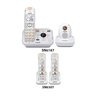 VTech SN6187 CareLine Telephone with SN6307-2 Additional Handset Combo