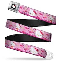 Hello Kitty W Red Bow Full Color Black Candy Bow Hello Kitty Face Sitting Seatbelt Belt