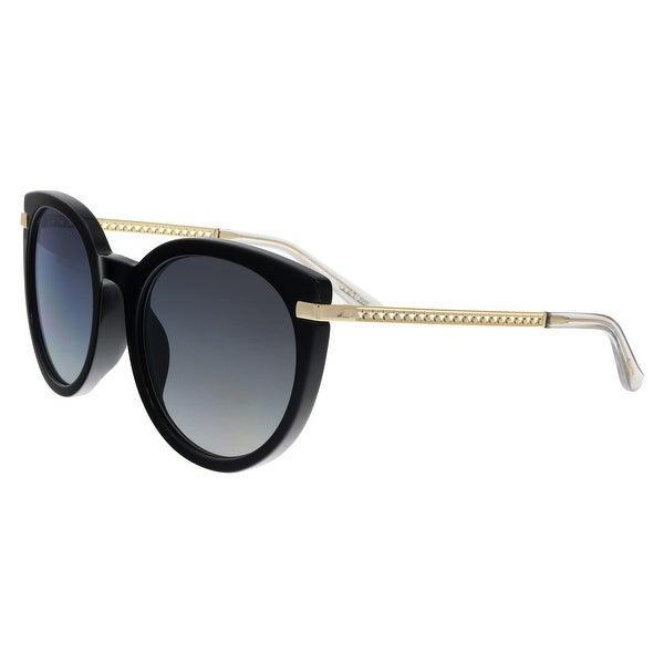 4fdd062eac57 Shop Jimmy Choo DENA F S 807 Black Round Sunglasses - no size - Free ...
