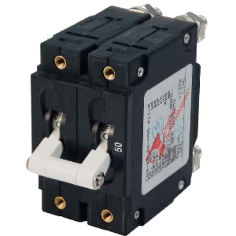"5"" White Functional Blue Sea 7251 CA2 50A Circuit Breaker"