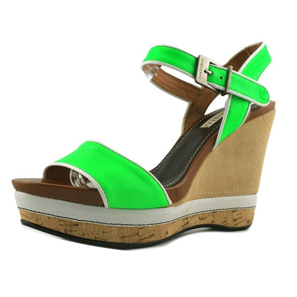 Martinelli 520 4 Colores Wedge Women Open Toe Leather Multi Color Wedge Sandal