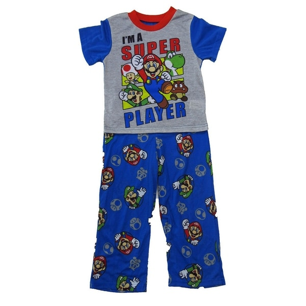 100e794de0 Shop Super Mario Little Boys Royal Blue Cartoon Inspired Short Sleeve  Pajama Set - Free Shipping On Orders Over $45 - Overstock - 25745932