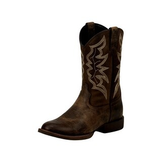 Shop Justin Western Boots Mens Round Toe Walking Heel